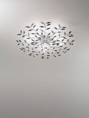 Plafoniera Crystallivs 10 luci con struttura in metallo cromato