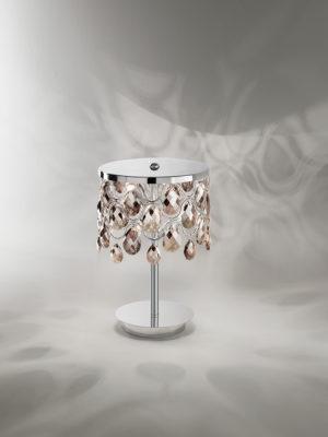 Plafoniera Hemidark con struttura in acciaio inox lucidato a specchio