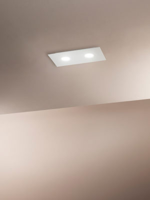 Plafoniera in alluminio Flet rettangolare 2 luci