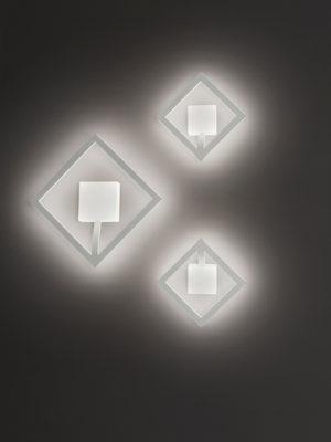 Plafoniera/applique Quattro grande e piccola con profilo in alluminio