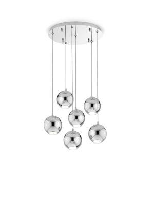 Sospensione in metallo Bol Diodi 6 luci