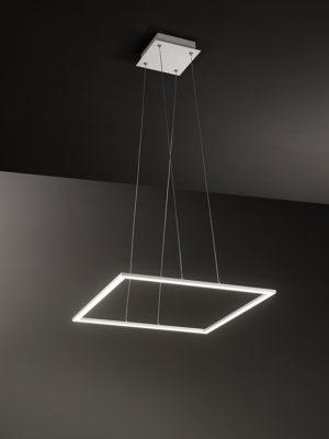 Sospensione quadrata Quattro con profilo in alluminio
